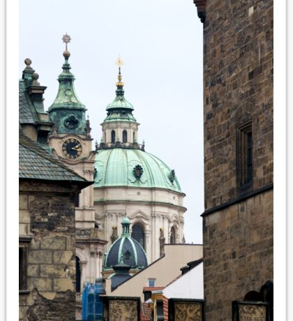 Domes and spires in Prague Sticker