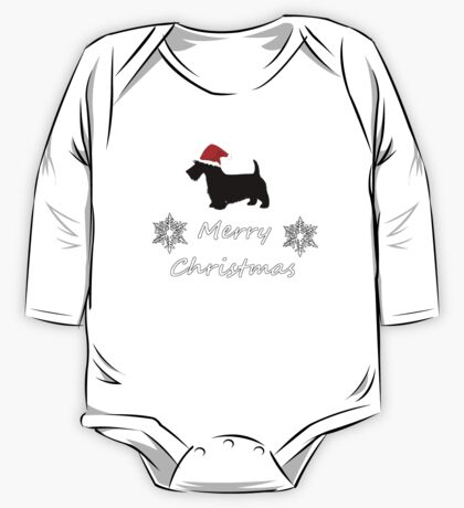Christmas Terrier One Piece - Long Sleeve