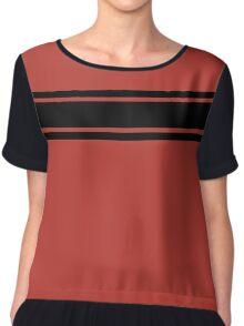 Retro Inspired Stripes Uni Aurora Red Fall 2016 Chiffon Top