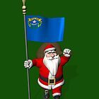 Santa Claus With Flag Of Nevada by Mythos57