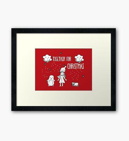 Together for Christmas Framed Print