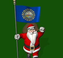 Santa Claus With Flag Of New Hampshire by Mythos57