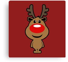 Red Nosed Reindeer Christmas Canvas Print
