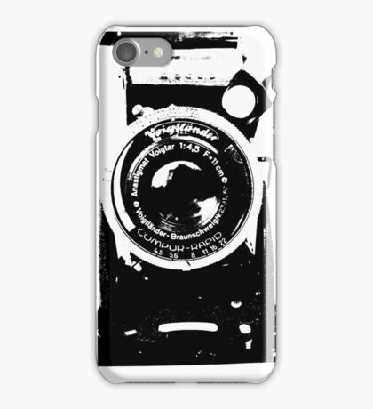 alte Kamera - old camera - black white- Plattenkamera - schwarz weiß iPhone Case/Skin