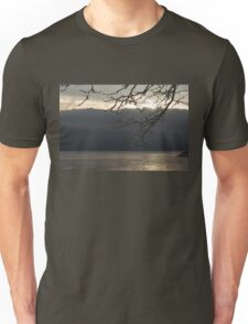 Cold Beauty - Ice Covered Branches at the Waterfront Unisex T-Shirt