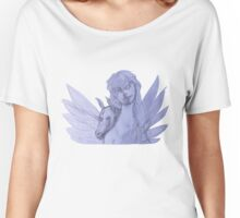 Fairy Angel and Unicorn (Original Art Drawing by Alice Iordache) Women's Relaxed Fit T-Shirt