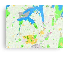 Sydney Inner West Map Metal Print