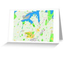 Sydney Inner West Map Greeting Card