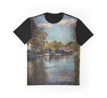 Above The Mill At Goring on Thames Graphic T-Shirt