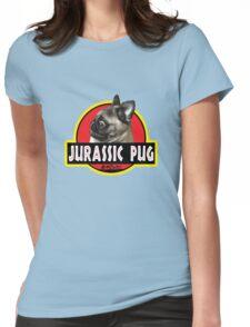 Jurassic Pug Womens Fitted T-Shirt