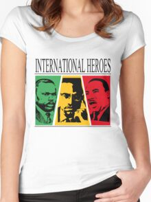 INTERNATIONAL HEROES Women's Fitted Scoop T-Shirt