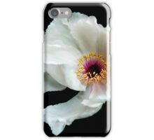 Snow White Peony iPhone Case/Skin