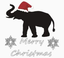 Christmas Elephant Kids Tee