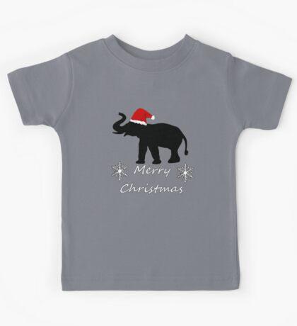 Christmas Elephant Kids Tee