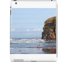 blur motion of dog running in sea by cliffs iPad Case/Skin