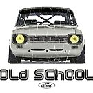 Classic Ford Escort MK1 Old School Distressed T-Shirt by ImageMonkey