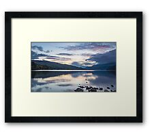 last embers of the day at Loch Tay, nr Aberfeldy Perthshire Framed Print