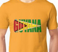 Guyana Font with Flag of Guyana Unisex T-Shirt