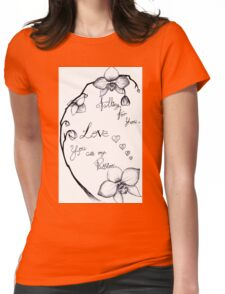love - orchid drawing Womens Fitted T-Shirt