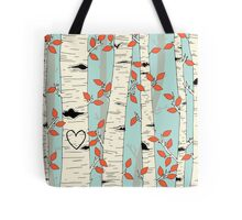 In the Birch Trees Tote Bag