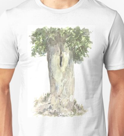 Ash Tree - Watercolor and Pencil Unisex T-Shirt