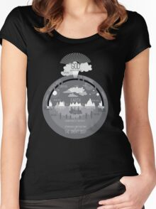 Ancient Hebrew Firmament Flat Earth Women's Fitted Scoop T-Shirt