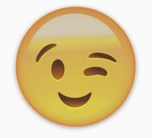 Winking Face Emoij by emojiprints