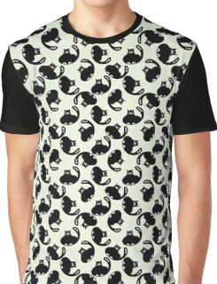 Cartoon pattern with cute black cats Graphic T-Shirt