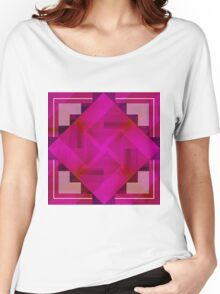 Fuchsia Shapes and Patterns Women's Relaxed Fit T-Shirt