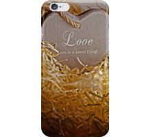 brown wooden love heart in a love nest iPhone Case/Skin