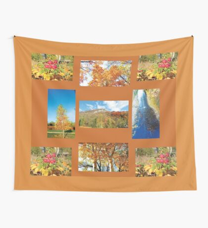 October Collage  Wall Tapestry