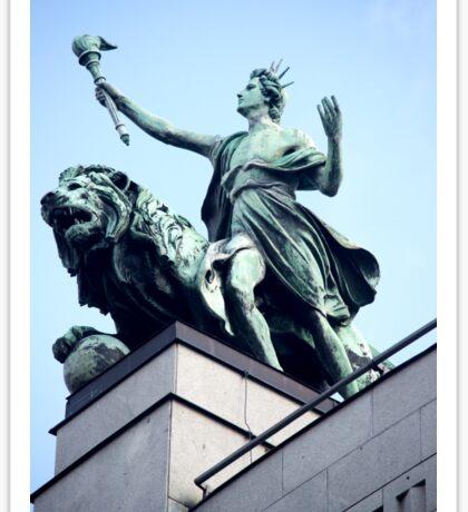 Statue astride a beast Sticker