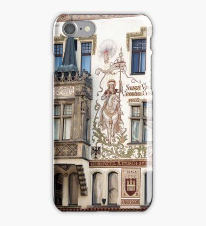 Painted walls in Prague iPhone Case/Skin