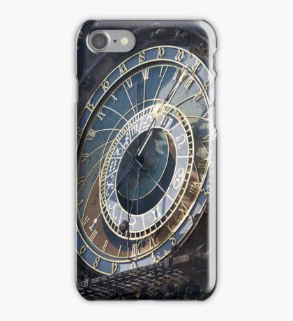Prague's astrological clock iPhone Case/Skin