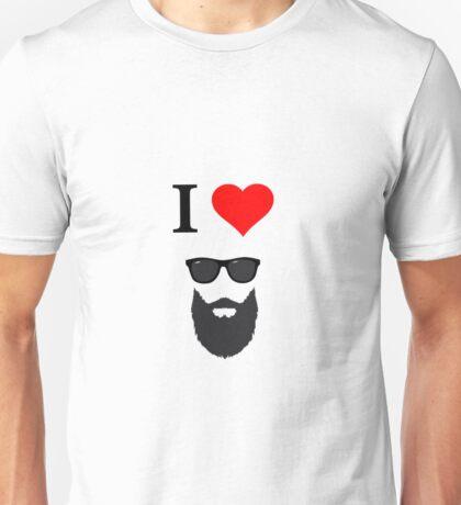 i love beard! Unisex T-Shirt