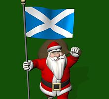 Santa Claus With Flag Of Scotland by Mythos57