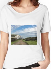 Seven Sisters and Coastguard Cottages Women's Relaxed Fit T-Shirt