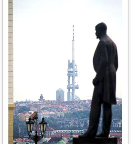 Standing tall over Prague Sticker