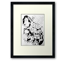 machine drawing Framed Print