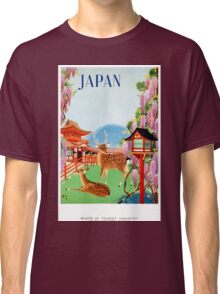 Vintage Japan Temple Travel Poster Classic T-Shirt