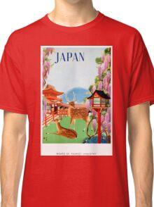 Vintage Japan Temple Travel Poster Classic T-Shirt