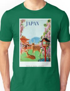 Vintage Japan Temple Travel Poster Unisex T-Shirt