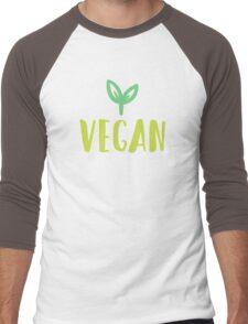 Go vegan Men's Baseball ¾ T-Shirt