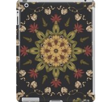 Hippie mandala Black Floral Red Yellow Bohemian Floral  iPad Case/Skin