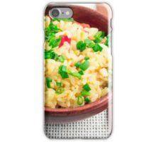Brown bowl with a portion of cooked rice iPhone Case/Skin