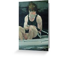Reflection - Rower Greeting Card