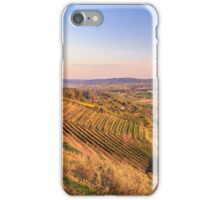 Sunset in the vineyard iPhone Case/Skin