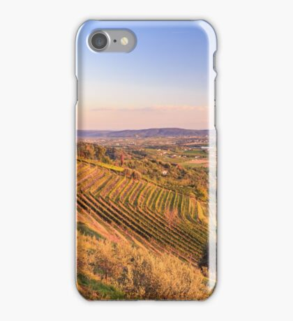 Sunset in the vineyard iPhone Case/Skin