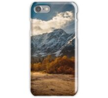 autumn sunrinse in the valley iPhone Case/Skin