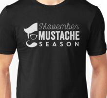Movember Mustache Season No Shave November Unisex T-Shirt